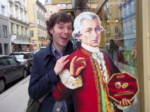 Wolfgang Amadeus Mozart Kohlmarkt, Vienna, Austria