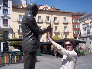 Federico García Lorca Plaza de Santa Ana, Madrid, Spain