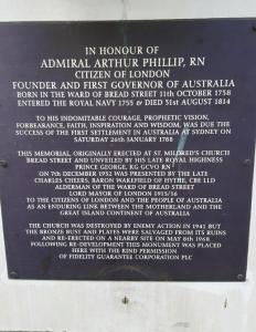 The inscription underneath the bust