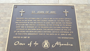 Outside St. Joan of Arc Church